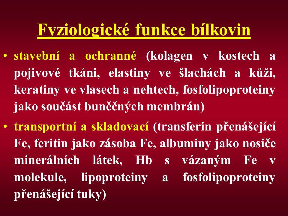 Fyziologické funkce bílkovin