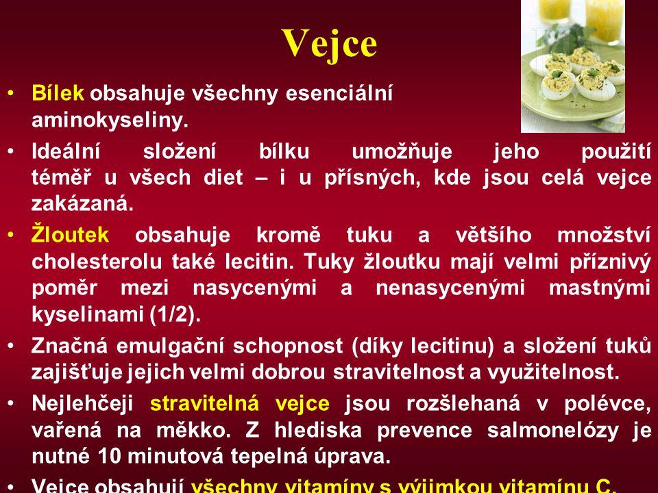 Vejce Bílek obsahuje všechny esenciální aminokyseliny.