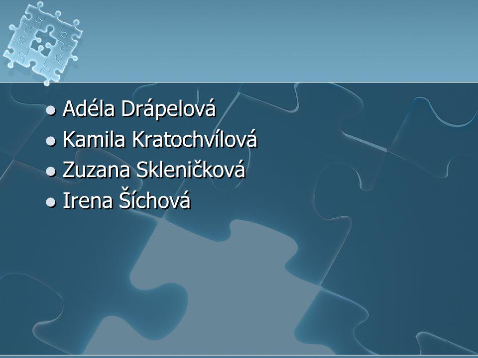 Adéla Drápelová Kamila Kratochvílová Zuzana Skleničková Irena Šíchová