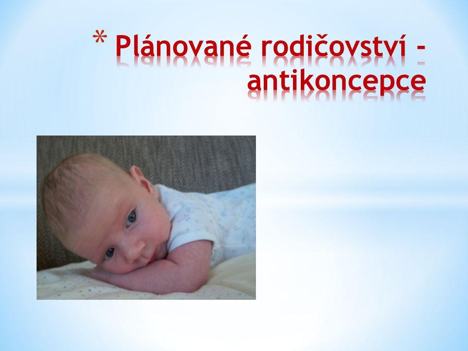 Plánované rodičovství - antikoncepce
