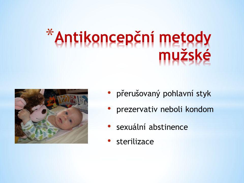 Antikoncepční metody mužské