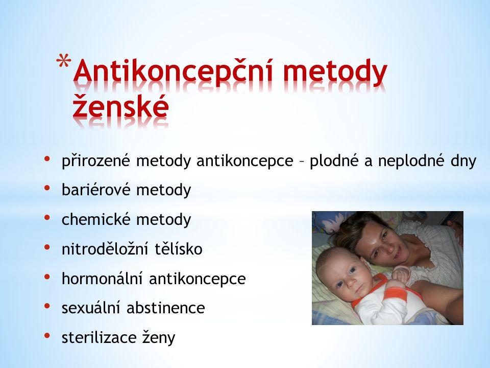 Antikoncepční metody ženské