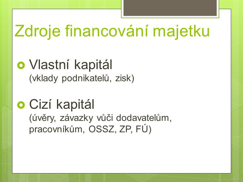Zdroje financování majetku