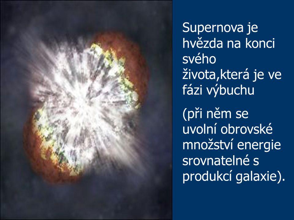 Supernova je hvězda na konci svého života,která je ve fázi výbuchu