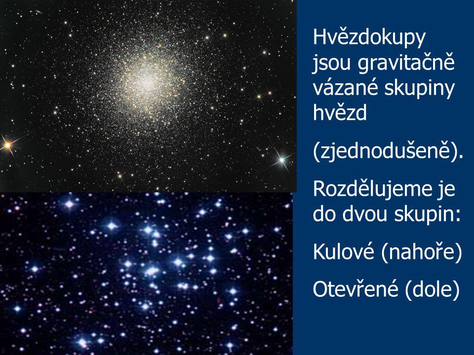 Hvězdokupy jsou gravitačně vázané skupiny hvězd