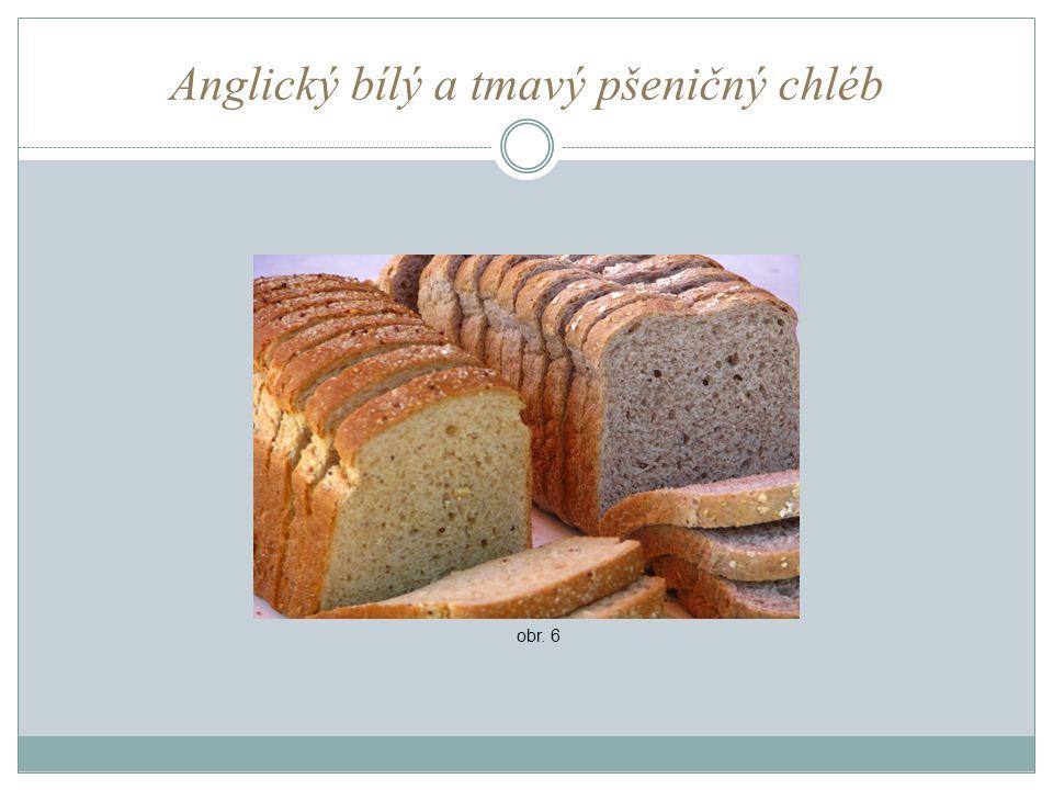 Anglický bílý a tmavý pšeničný chléb