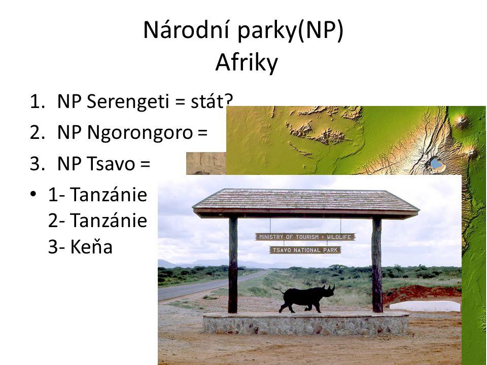 Národní parky(NP) Afriky
