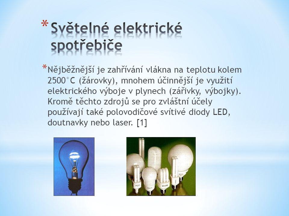 Světelné elektrické spotřebiče