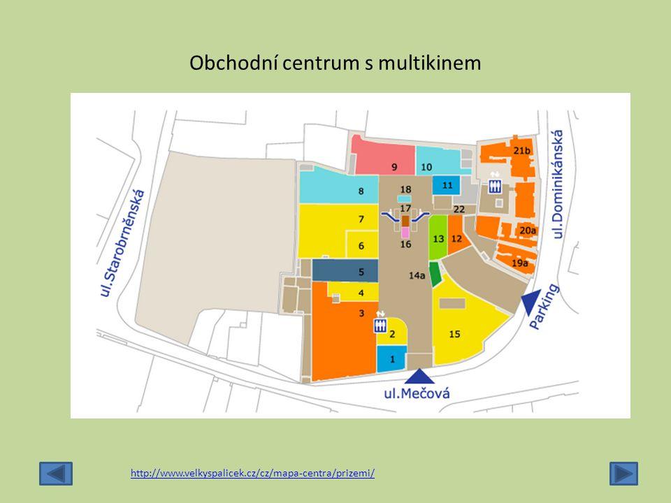 Obchodní centrum s multikinem