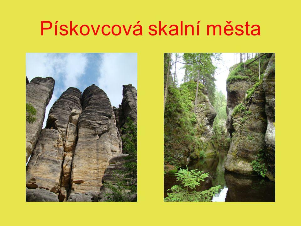 Pískovcová skalní města