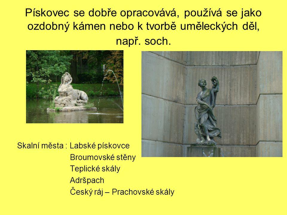 Pískovec se dobře opracovává, používá se jako ozdobný kámen nebo k tvorbě uměleckých děl, např. soch.