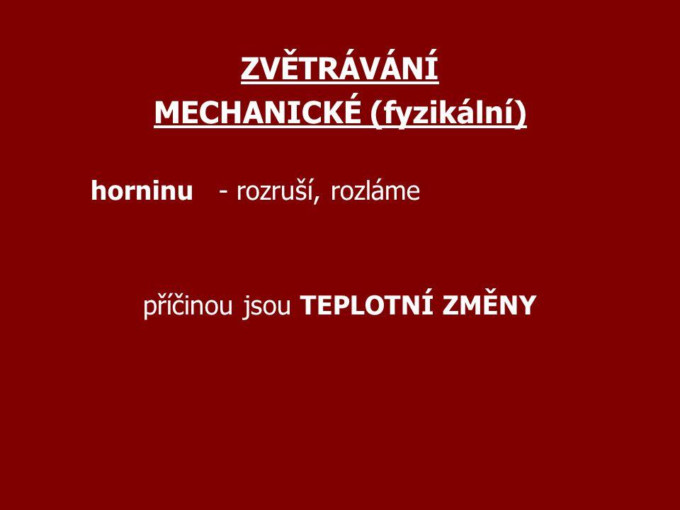 MECHANICKÉ (fyzikální)