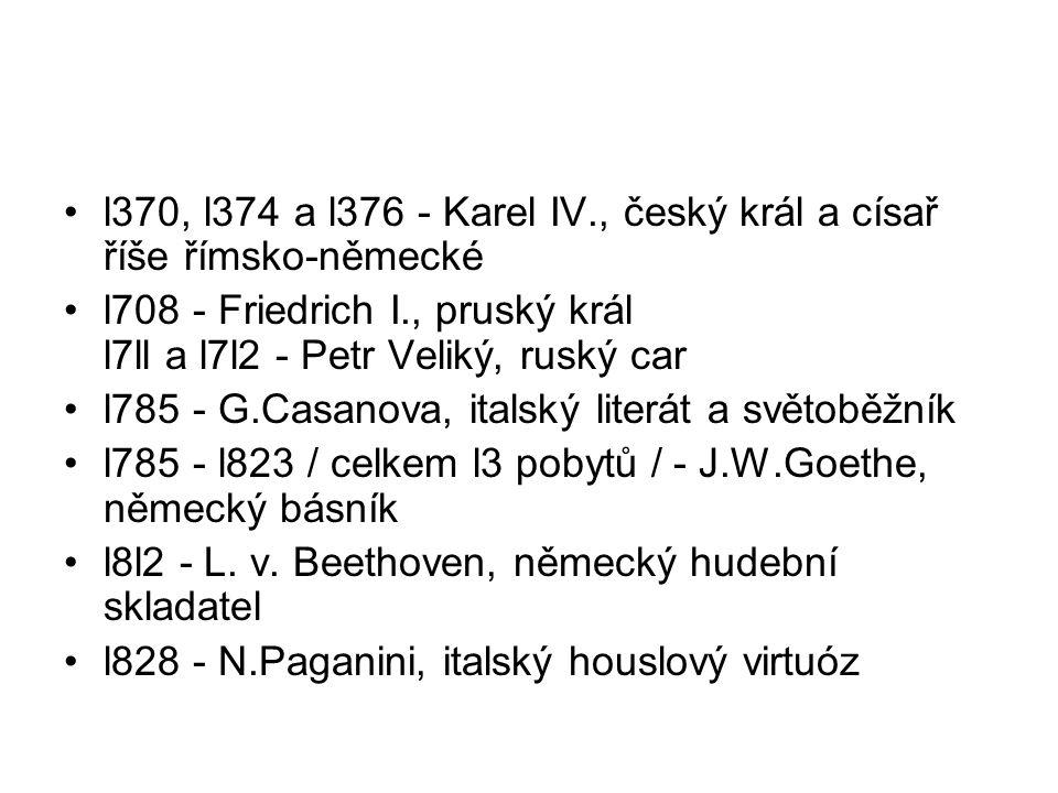 l370, l374 a l376 - Karel IV., český král a císař říše římsko-německé