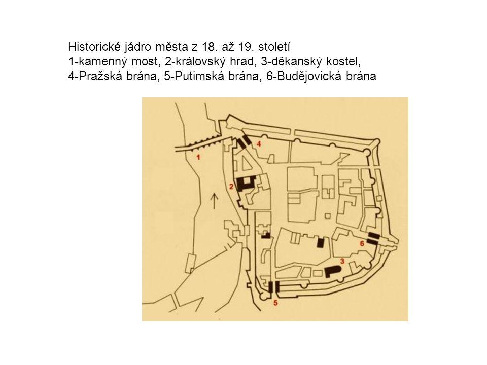 Historické jádro města z 18. až 19