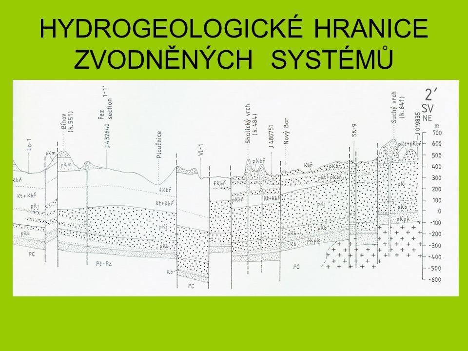 HYDROGEOLOGICKÉ HRANICE ZVODNĚNÝCH SYSTÉMŮ
