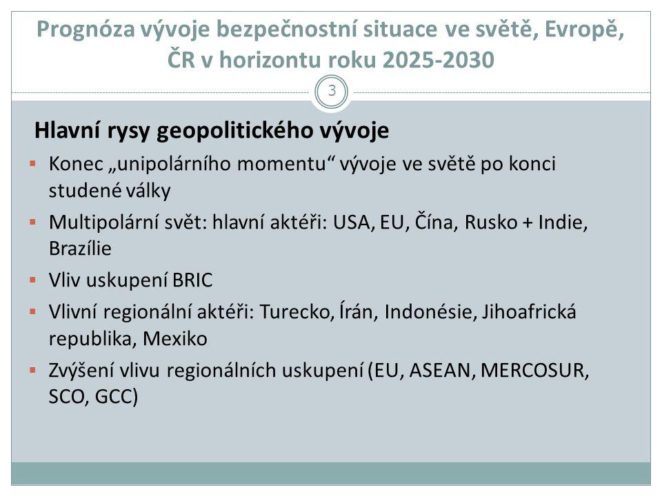 Hlavní rysy geopolitického vývoje