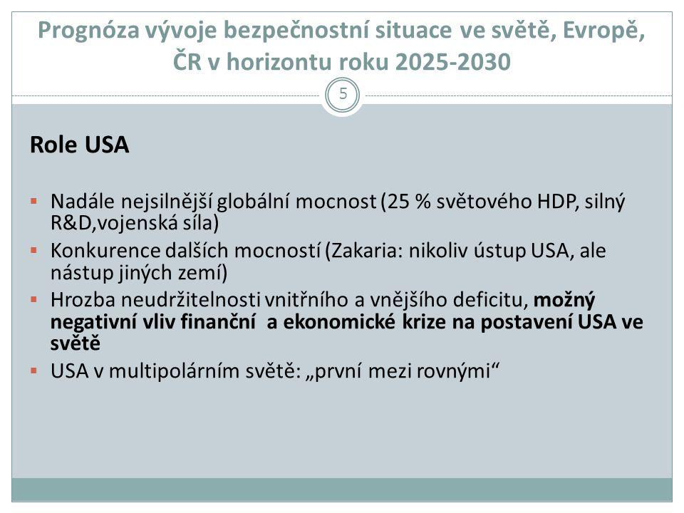 Prognóza vývoje bezpečnostní situace ve světě, Evropě, ČR v horizontu roku 2025-2030
