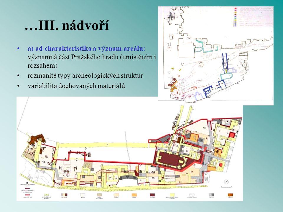 …III. nádvoří a) ad charakteristika a význam areálu: významná část Pražského hradu (umístěním i rozsahem)