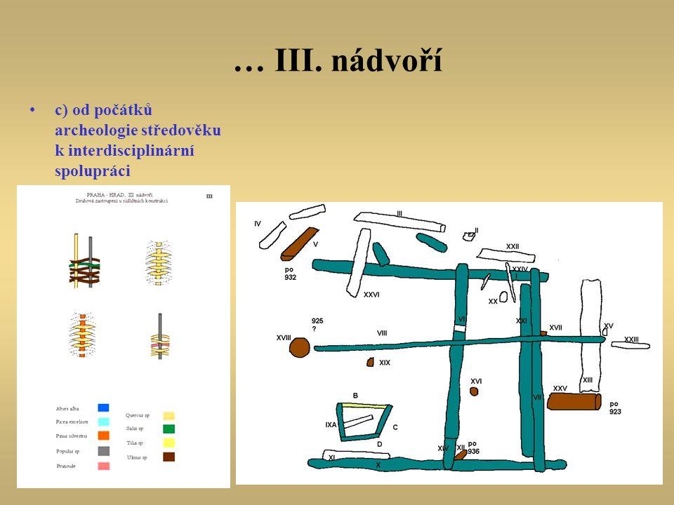 … III. nádvoří c) od počátků archeologie středověku k interdisciplinární spolupráci.