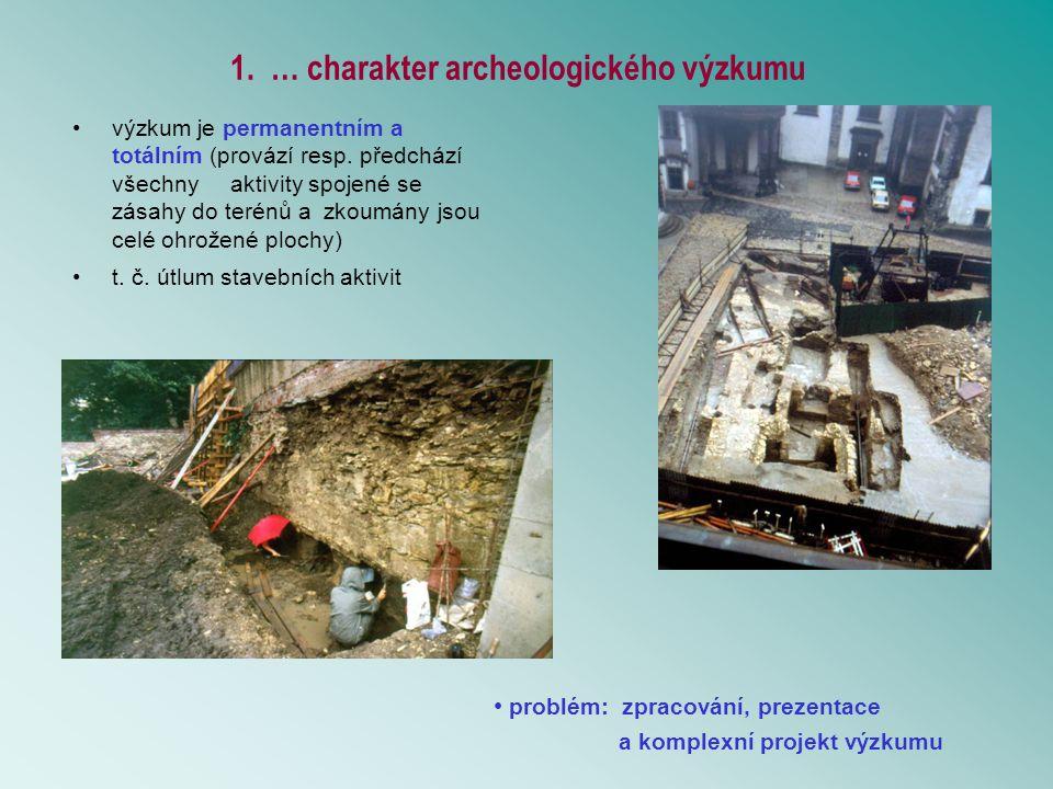1. … charakter archeologického výzkumu