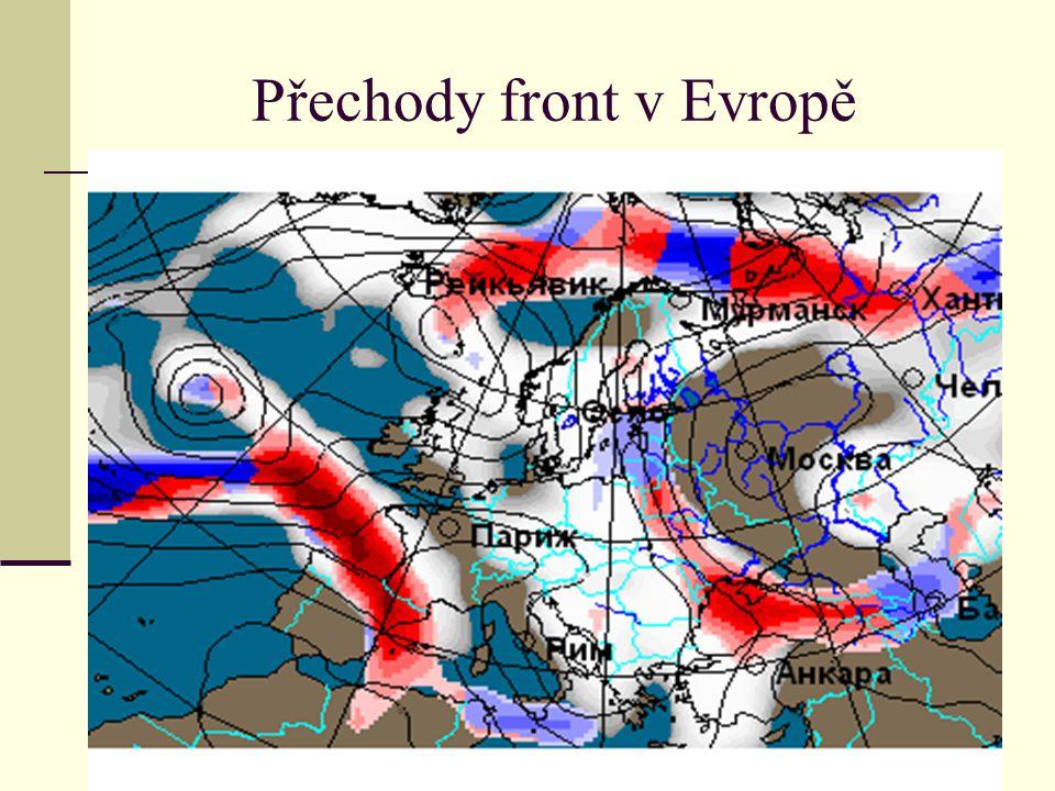Přechody front v Evropě