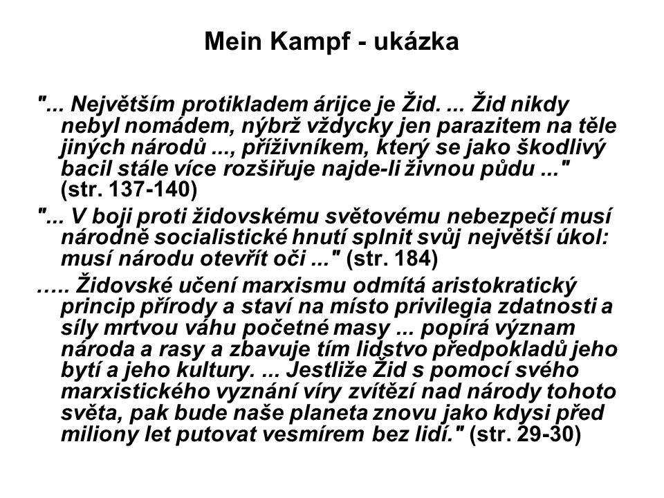 Mein Kampf - ukázka
