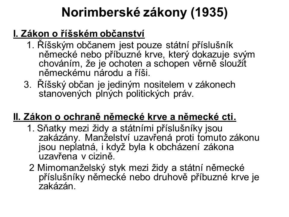 Norimberské zákony (1935) I. Zákon o říšském občanství