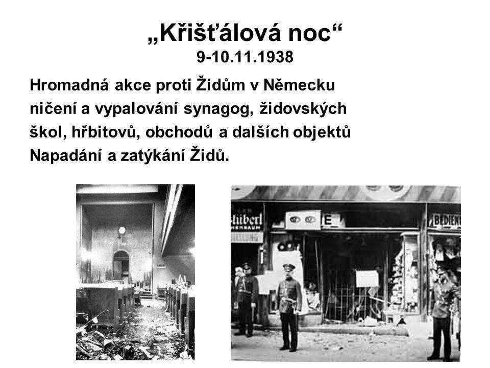 """""""Křišťálová noc 9-10.11.1938 Hromadná akce proti Židům v Německu"""