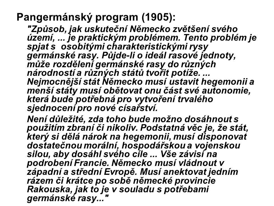 Pangermánský program (1905):