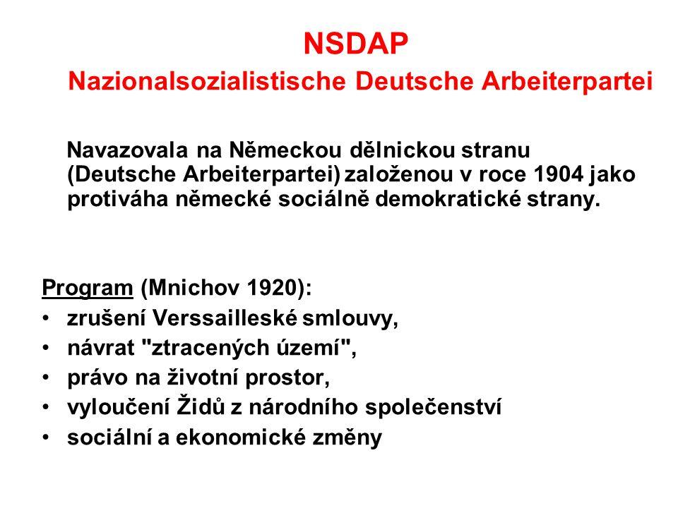 NSDAP Nazionalsozialistische Deutsche Arbeiterpartei