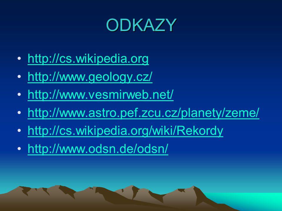 ODKAZY http://cs.wikipedia.org http://www.geology.cz/