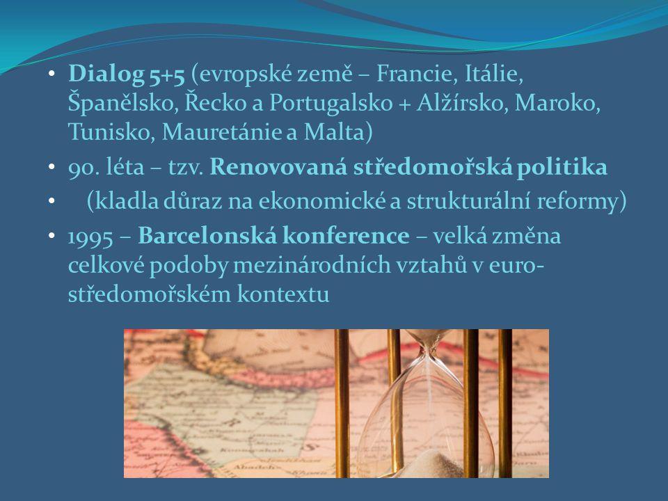 Dialog 5+5 (evropské země – Francie, Itálie, Španělsko, Řecko a Portugalsko + Alžírsko, Maroko, Tunisko, Mauretánie a Malta)