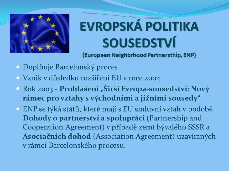 EVROPSKÁ POLITIKA SOUSEDSTVÍ (European Neighbrhood Partnersthip, ENP)