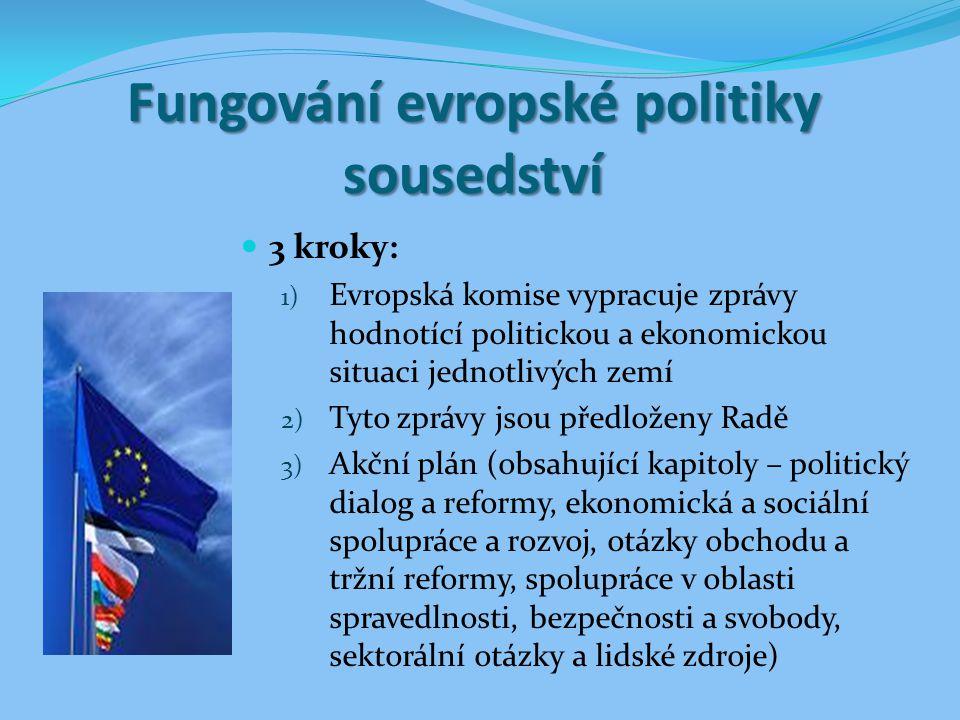 Fungování evropské politiky sousedství
