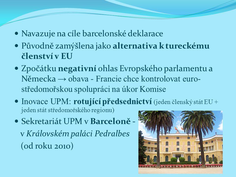 Navazuje na cíle barcelonské deklarace