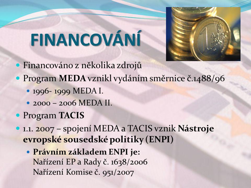 FINANCOVÁNÍ Financováno z několika zdrojů