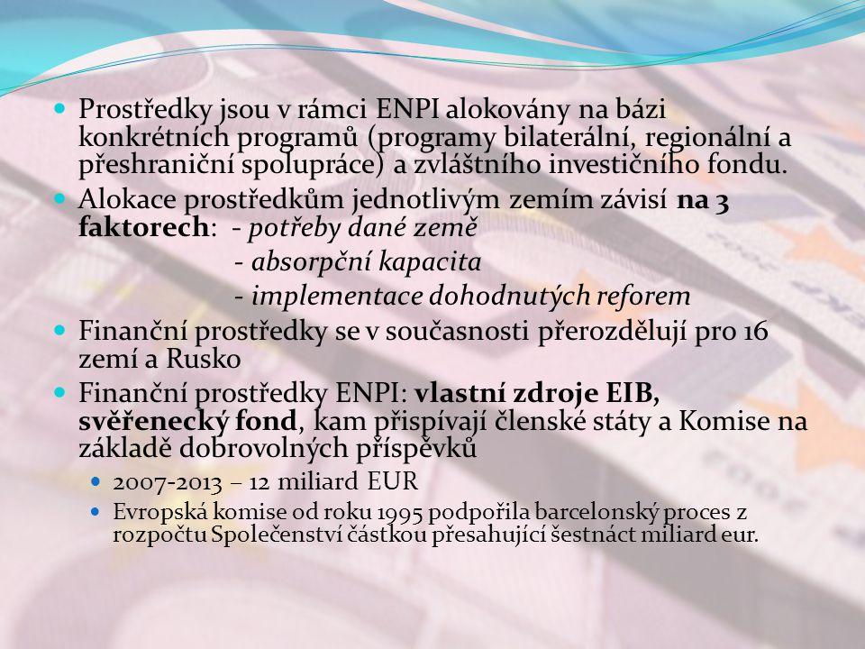 - implementace dohodnutých reforem