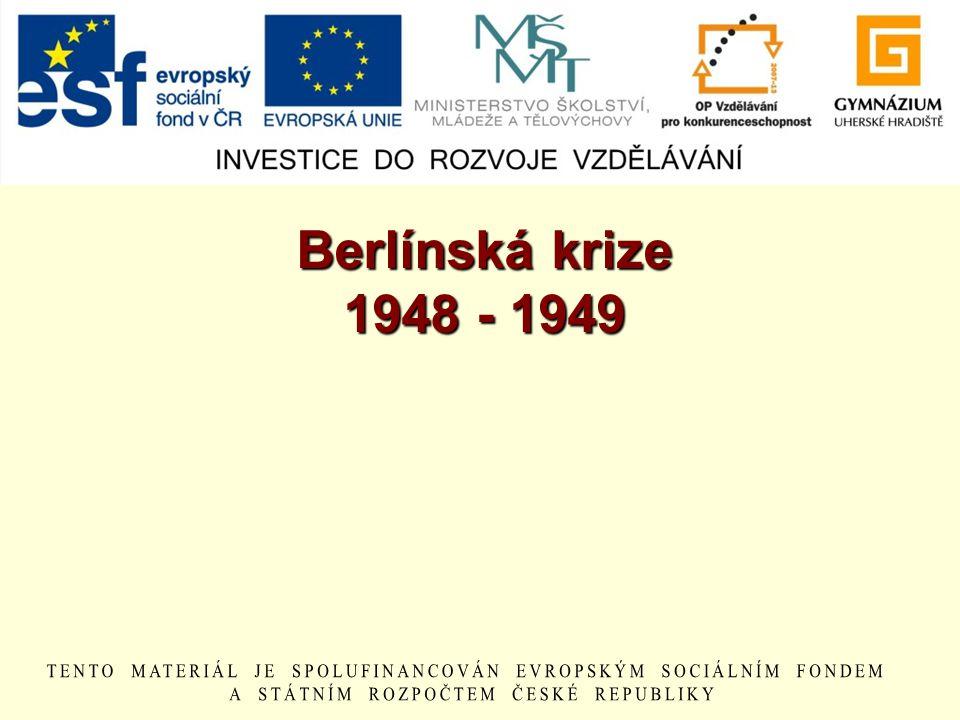 Berlínská krize 1948 - 1949