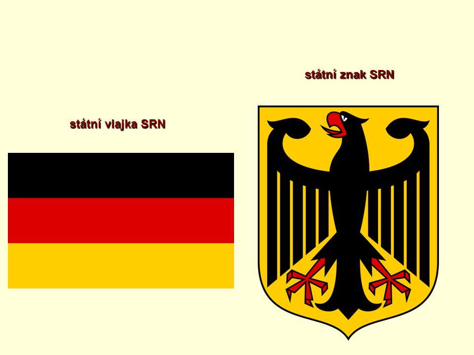 státní znak SRN státní vlajka SRN