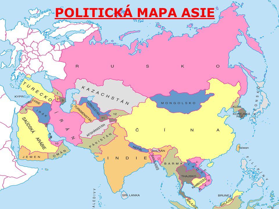 POLITICKÁ MAPA ASIE