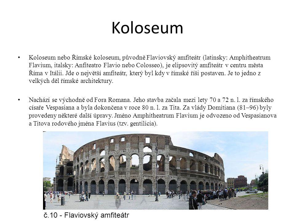 Koloseum č.10 - Flaviovský amfiteátr
