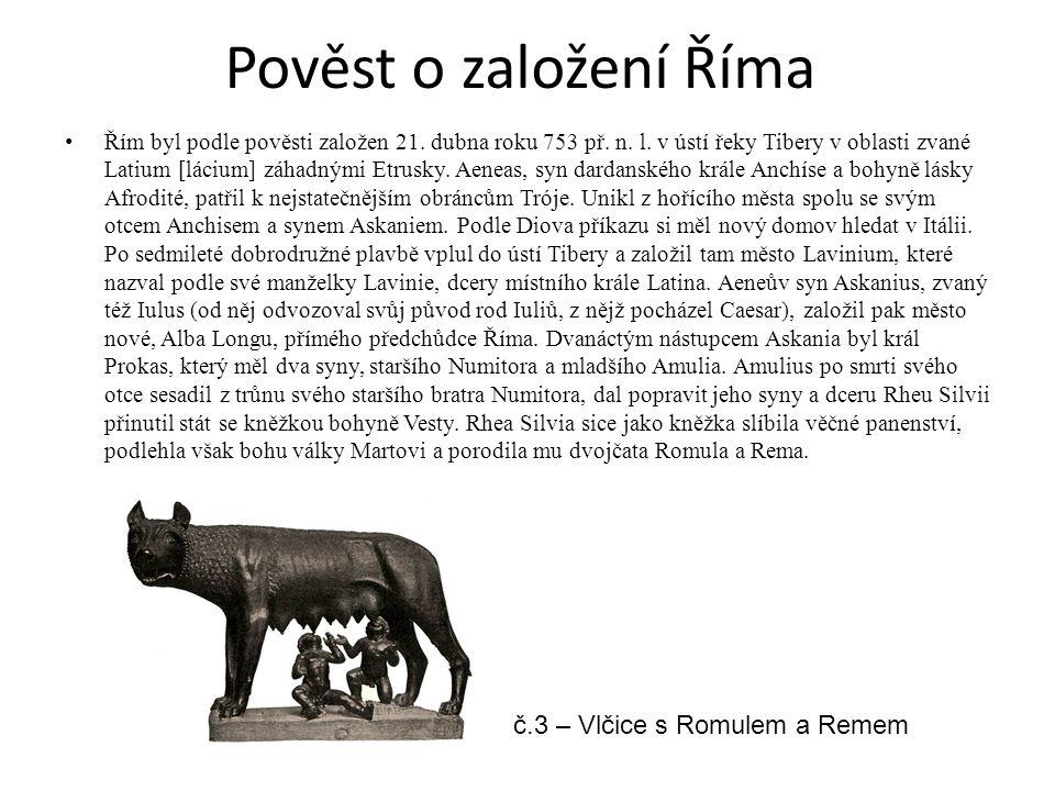 Pověst o založení Říma č.3 – Vlčice s Romulem a Remem
