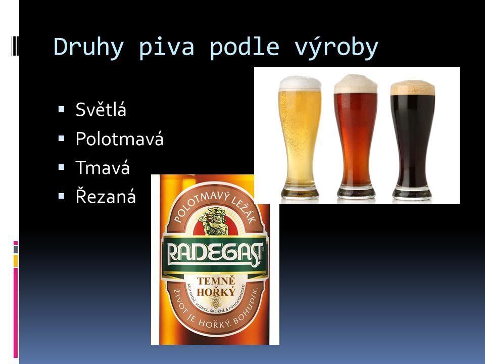 Druhy piva podle výroby
