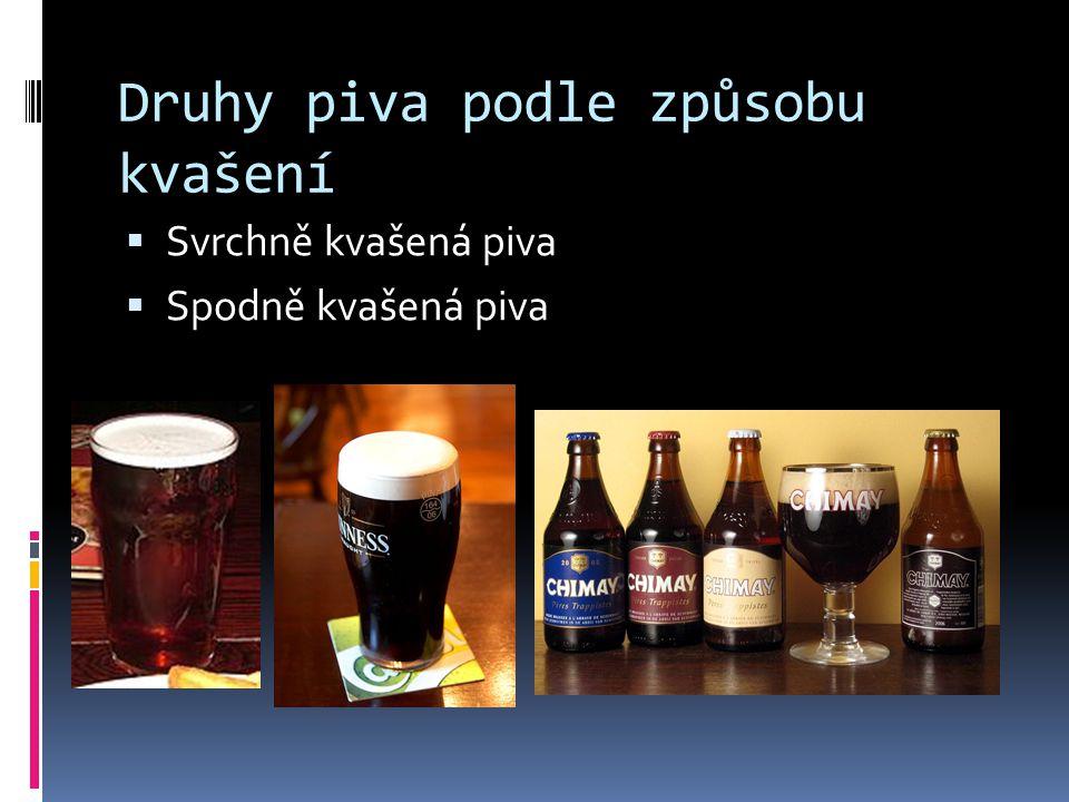 Druhy piva podle způsobu kvašení