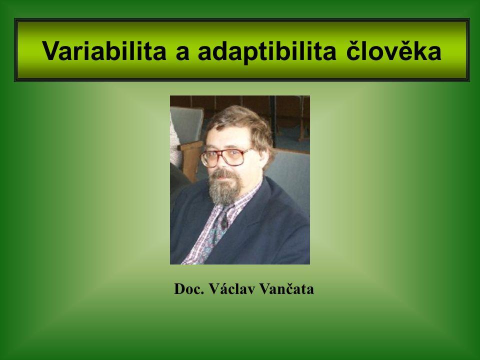 Variabilita a adaptibilita člověka