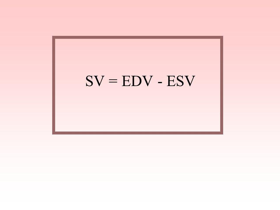 SV = EDV - ESV