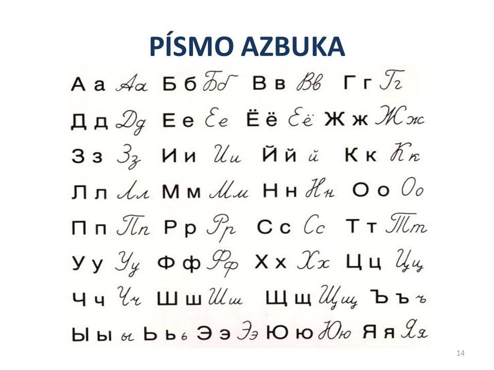 PÍSMO AZBUKA