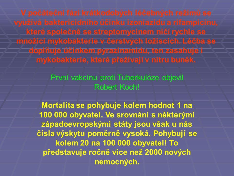 První vakcínu proti Tuberkulóze objevil Robert Koch!