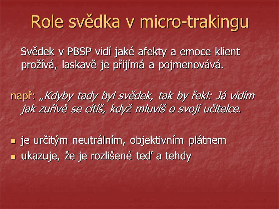 Role svědka v micro-trakingu
