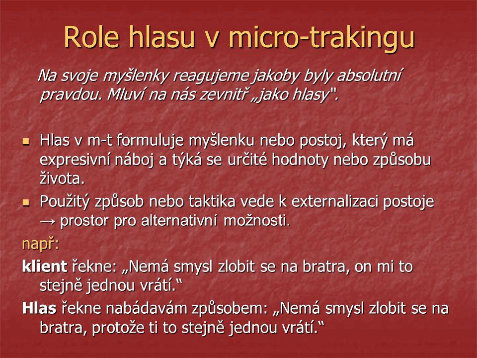 Role hlasu v micro-trakingu